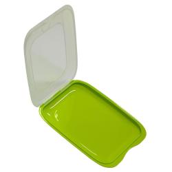 6x stapelbare Aufschnittbox Frischhaltedose Wurst Behälter Aufschnittdose Grün