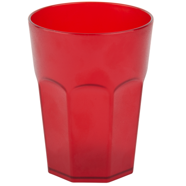 Kunststoffbecher Rot Trinkbecher Party-Becher Plastik Trink-Gläser Mehrweg 0,25l