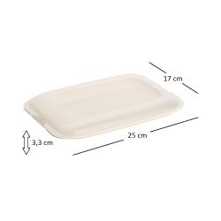5x stapelbare Aufschnittbox Frischhaltedose Wurst Behälter Aufschnittdose Beige