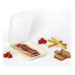 6x stapelbare Aufschnittbox Frischhaltedose Wurst Behälter Aufschnittdose Rosa