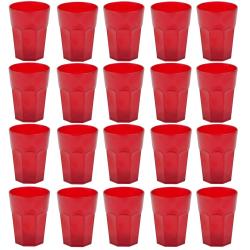 20x Kunststoffbecher Rot Trinkbecher Party-Becher Plastik...