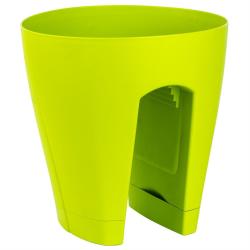 3x Blumentopf für Geländer Blumenkasten Geländerkasten Balkonkiste in Farbe grün