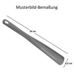 1x Schuhlöffel Schuhanzieher aus Kunststoff mit Öse 34 cm lang Farbe Schwarz