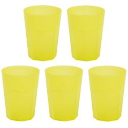 5x Kunststoffbecher Gelb Trinkbecher Party-Becher...