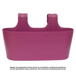 Blumenkasten oval Balkon Übertopf Pflanzkasten Blumentopf zum Hängen mit Wasserspeicher Farbe lila