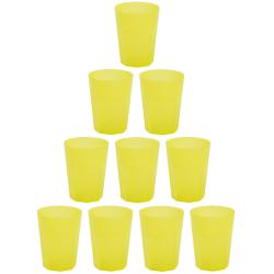 10x Kunststoffbecher Gelb Trinkbecher Party-Becher...