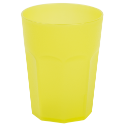 15x Kunststoffbecher Gelb Trinkbecher Party-Becher...