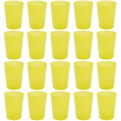 20x Kunststoffbecher Gelb Trinkbecher Party-Becher...