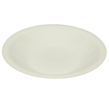 Speise-Essteller Beilagen Teller Picknick Garten Grill-Zubehör Kunststoff Mikrowellen und Spülmaschinenfest Farbe weiß