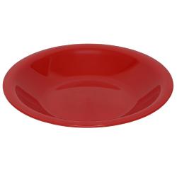 4 Mehrwegteller tief Beilagen Teller Picknick Garten Grill-Zubehör Mikrowellen und Spülmaschinenfest Farbe rot