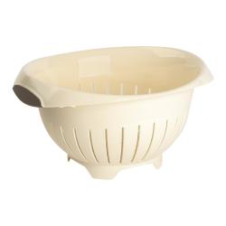 3x Farbiges Abtropfsieb Haushaltssieb Nudelsieb Gemüse Seiher Küchensieb BPA-frei Kunststoff Durchmesser 24,5 cm Spülmaschinen geeignet