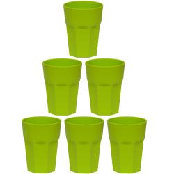 6x Kunststoffbecher Grün Trinkbecher Party-Becher...