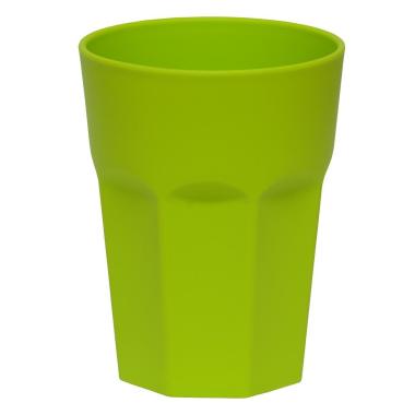 10x Kunststoffbecher Grün Trinkbecher Party-Becher Plastik Trink-Gläser Mehrweg