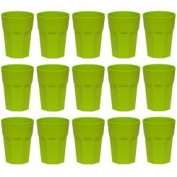 15x Kunststoffbecher Grün Trinkbecher Party-Becher...