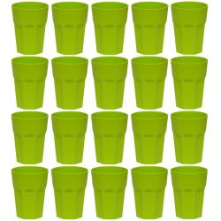 20x Kunststoffbecher Grün Trinkbecher Party-Becher...