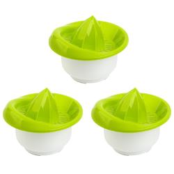 3x Zitronen-Zitrus-Saft-Hand-Presse Behälter...