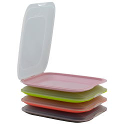 4er Farbmix - Set stapelbare Aufschnittbox...