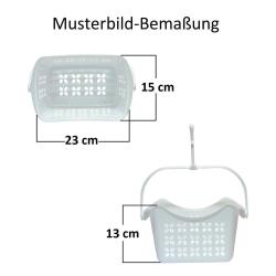 2x Wäscheklammerset-hänge-korb mit je 40 Klammern PP-Kunststoff Haken Farbe rot