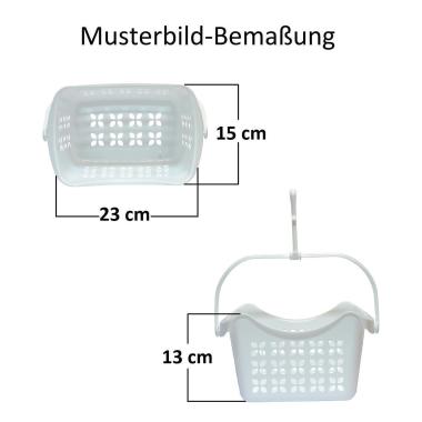 2x Wäscheklammerset-hänge-korb je 40 Klammern PP-Kunststoff Hacken Farbe weiß