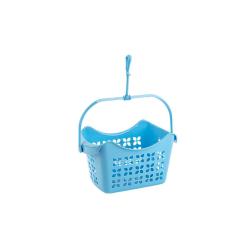 2x Wäscheklammerset-hänge-korb mit je 40 Klammern PP-Kunststoff Haken Farbe blau