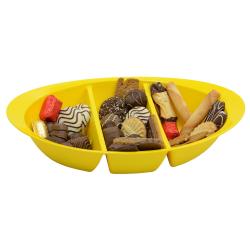 Schale Knabbersachen Süssigkeiten Kekse Obst Nüsse Snackbox Snackschale Gelb