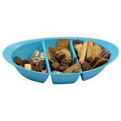Schale Knabbersachen Süssigkeiten Kekse Obst Nüsse Snackbox Snackschale Blau