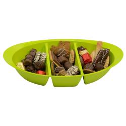 Schale Knabbersachen Süssigkeiten Kekse Obst Nüsse Snackbox Snackschale Grün