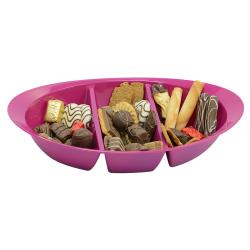 Schale Knabbersachen Süssigkeiten Kekse Obst Nüsse Snackbox Snackschale Lila
