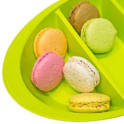 Schale Knabbersachen Süssigkeiten Kekse Obst Nüsse Snackbox Snackschale Orange