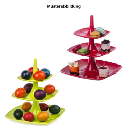 2x Etagere 3 stöckig Kuchenständer Dessertständer Tortenhalter Käseplatte Kunststoff Farbe schwarz