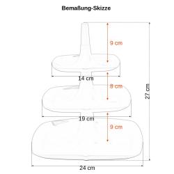3x Etagere 3 stöckig Kuchenständer Dessertständer Tortenhalter Käseplatte Kunststoff Farbe Braun