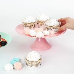 2x Tortenplatte mit Fuß Kuchen Torten ständer Servierteller Backzubehör Deko klar