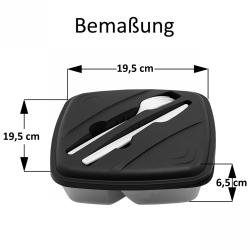 Lunchbox Frühstücksdose Vesperdose Aufbewahrungsdose Essensbox BPA-Free Orange