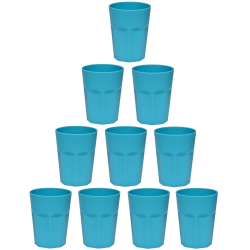 10x Kunststoffbecher Blau Trinkbecher Party-Becher...
