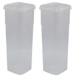 2x Frischhaltedose mit Deckel 11 x 11 x 27,5 cm...
