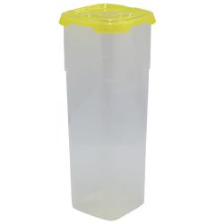 3x Frischhaltedose mit Deckel 11 x 11 x 27,5 cm Nudelaufbewahrungsbox Pasta Vorrats Behälter Transparent