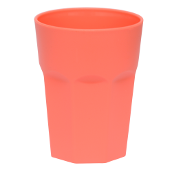 10x Kunststoffbecher Apricot Trinkbecher Plastik Outdoor...
