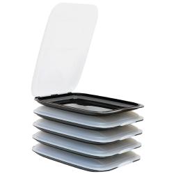 5x Stapelbare Aufschnittbox Frischhaltedose Wurst...