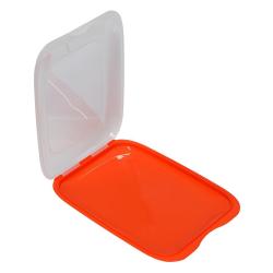 4x Stapelbare Aufschnittbox Frischhaltedose Wurst Behälter Aufschnittdose Orange