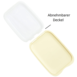 3x Stapelbare Aufschnittbox Frischhaltedose Wurst Behälter Aufschnittdose Gelb