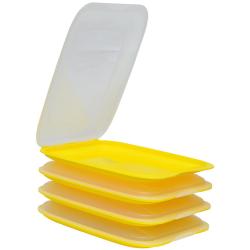 4x Stapelbare Aufschnittbox Frischhaltedose Wurst...