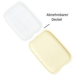 4x Stapelbare Aufschnittbox Frischhaltedose Wurst Behälter Aufschnittdose Gelb