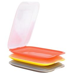 3x Stapelbare Aufschnittbox Frischhaltedose Wurst...