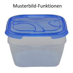 3er Packung Frischhaltedose Aufbewahrungsbehälter aus transparentem Kunststoff mit Deckel für Lebensmittel gelb