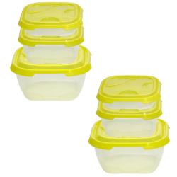 2x 3er Packung Frischhaltedose Aufbewahrungsbehälter...