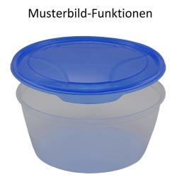 3x 3er Packung runde Frischhaltedose Aufbewahrungsbehälter aus transparentem Kunststoff mit Deckel für Lebensmittel in Blau