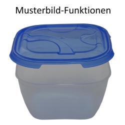 4er Packung Frischhaltedose Aufbewahrungsbehälter aus transparentem Kunststoff mit Deckel für Lebensmittel Farbe Blau