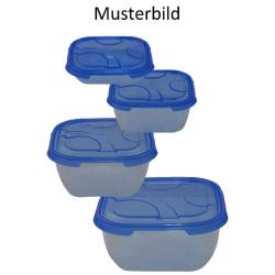 3x 4er Packung Frischhaltedose Aufbewahrungsbehälter aus transparentem Kunststoff mit Deckel für Lebensmittel Farbe Gelb