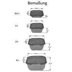2x 4er Packung Frischhaltedose Aufbewahrungsbehälter aus transparentem Kunststoff mit Deckel für Lebensmittel Farbe Transparent