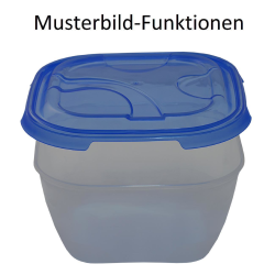 3x 4er Packung Frischhaltedose Aufbewahrungsbehälter aus transparentem Kunststoff mit Deckel für Lebensmittel Farbe Transparent
